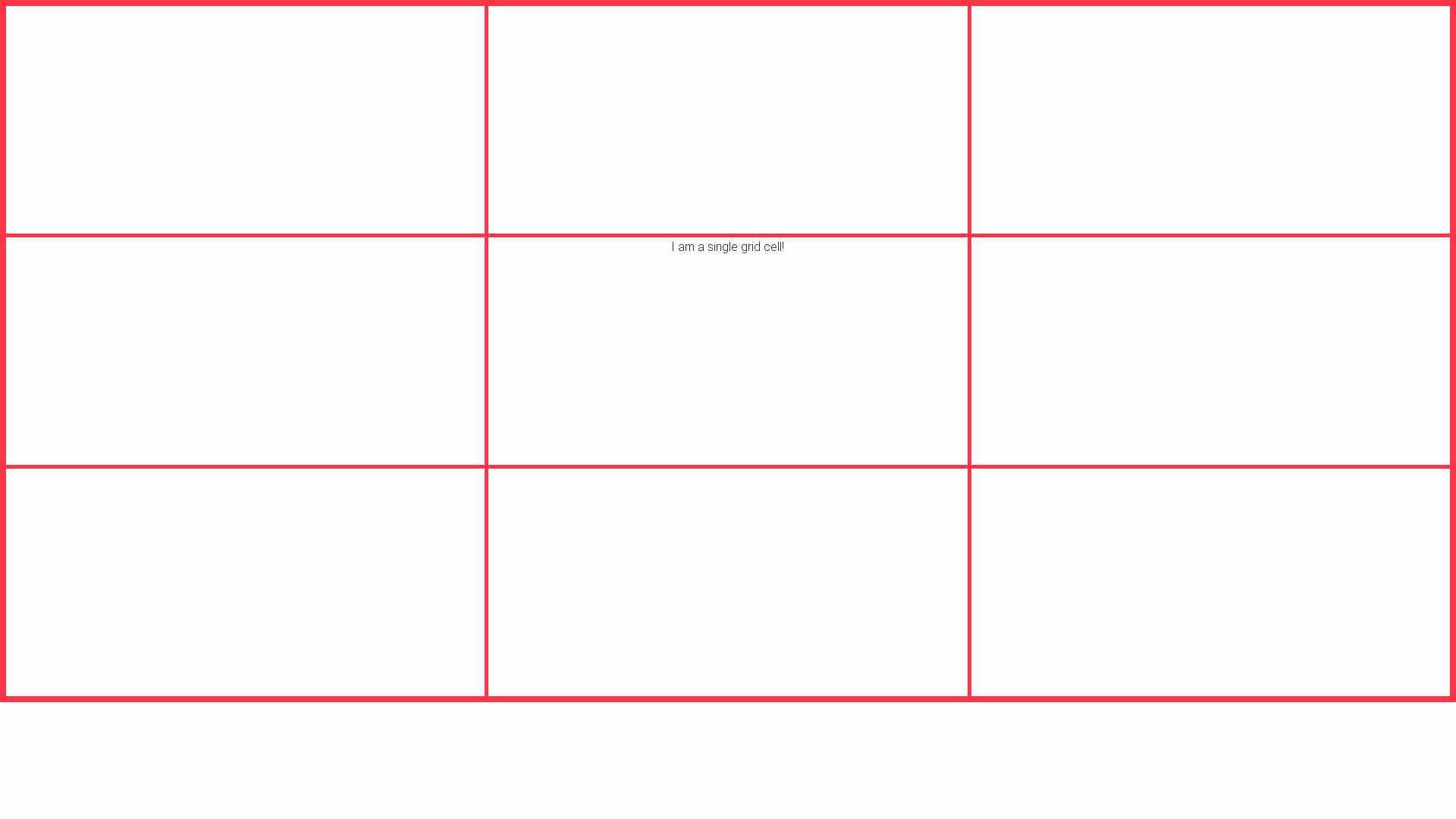 CSS grid tutorial - cell example