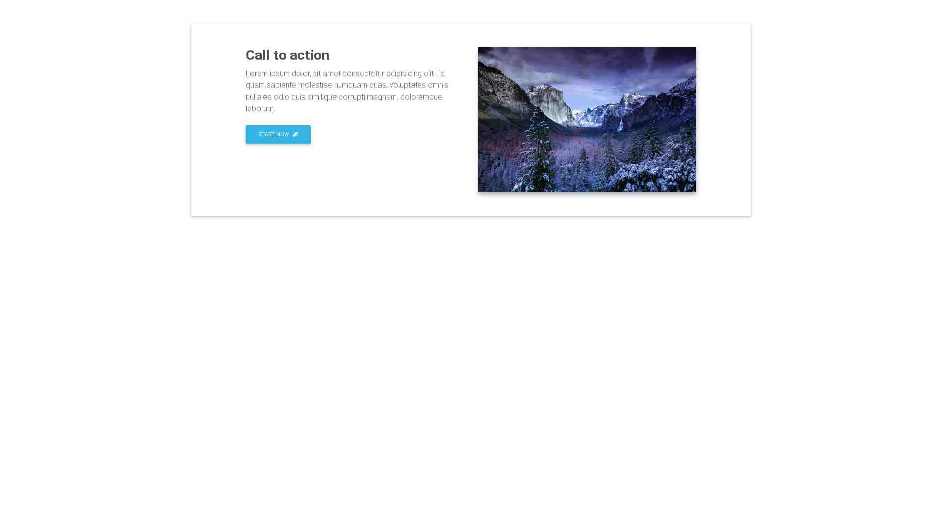 Material Design Blocks - Call to action 17