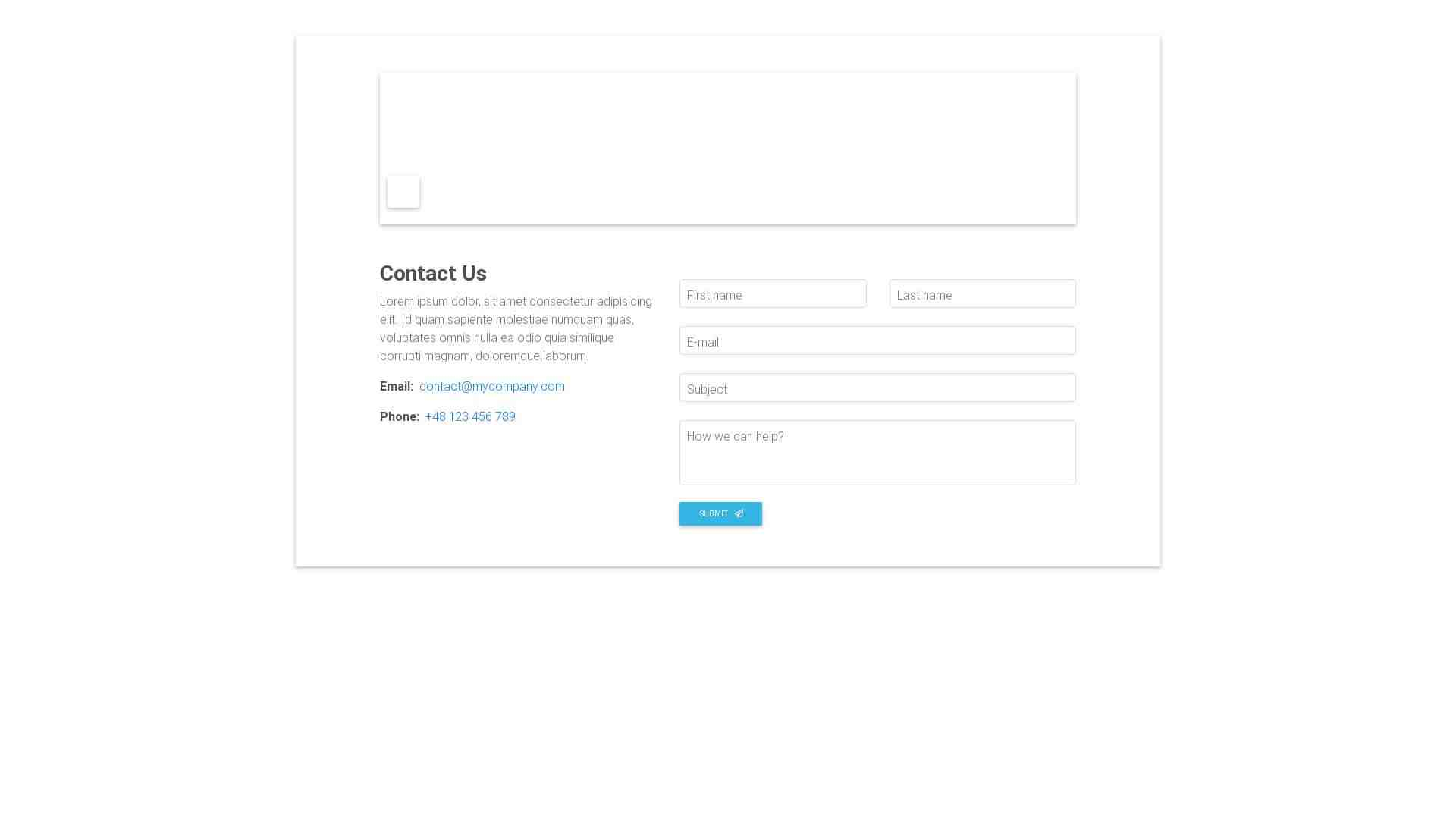 Material Design Blocks - Contact 1