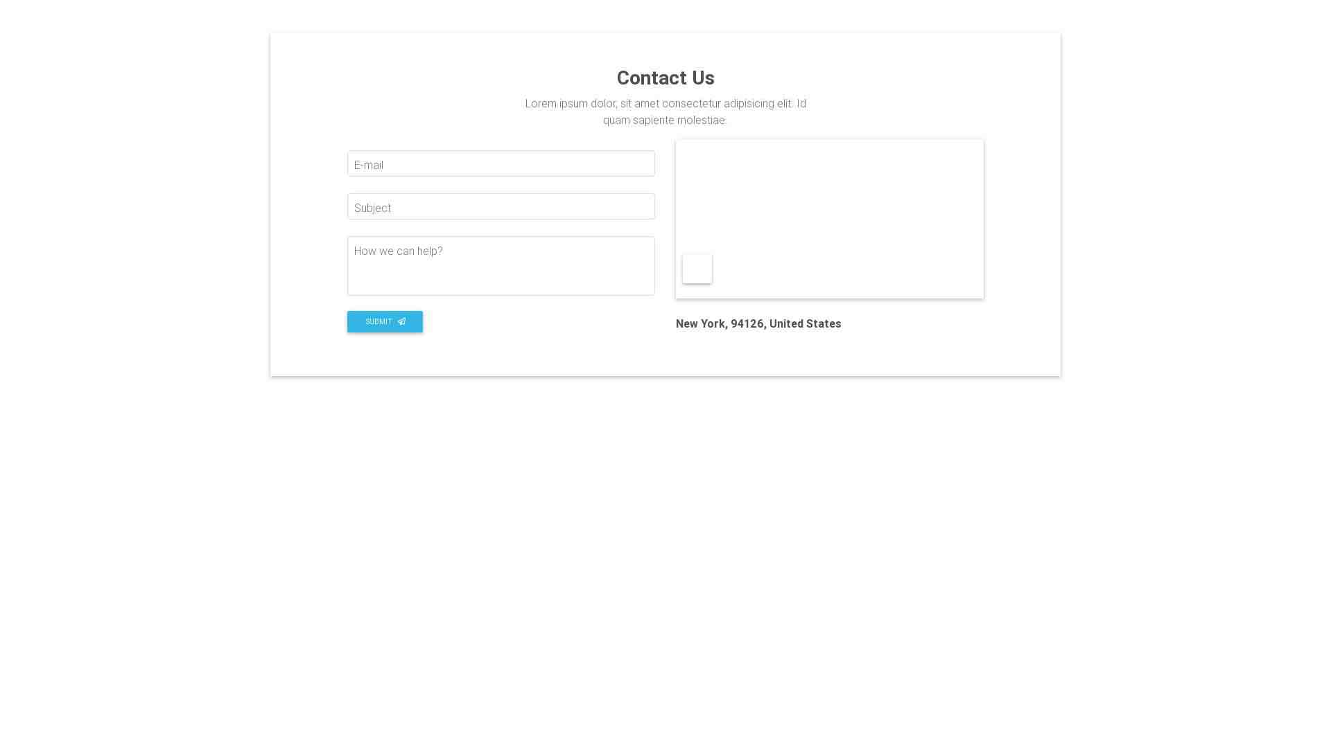Material Design Blocks - Contact 6