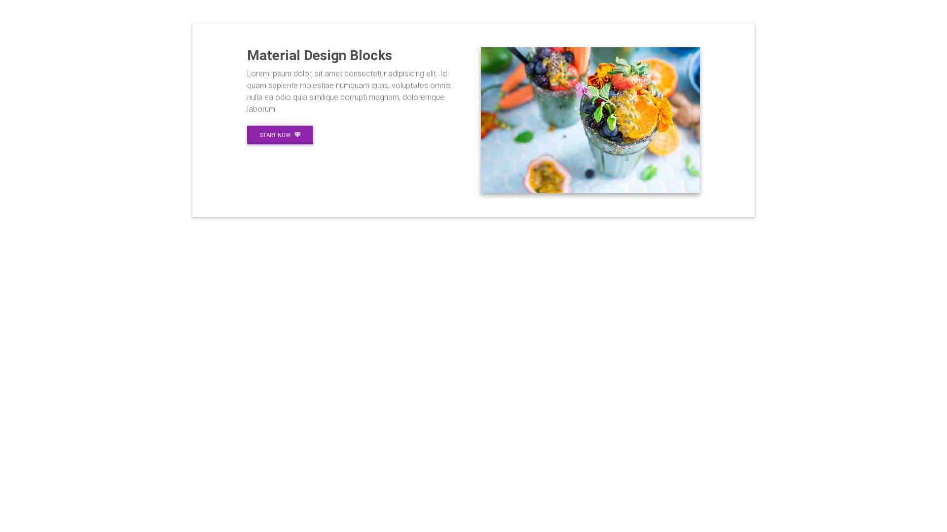Material Design Blocks - Content 3