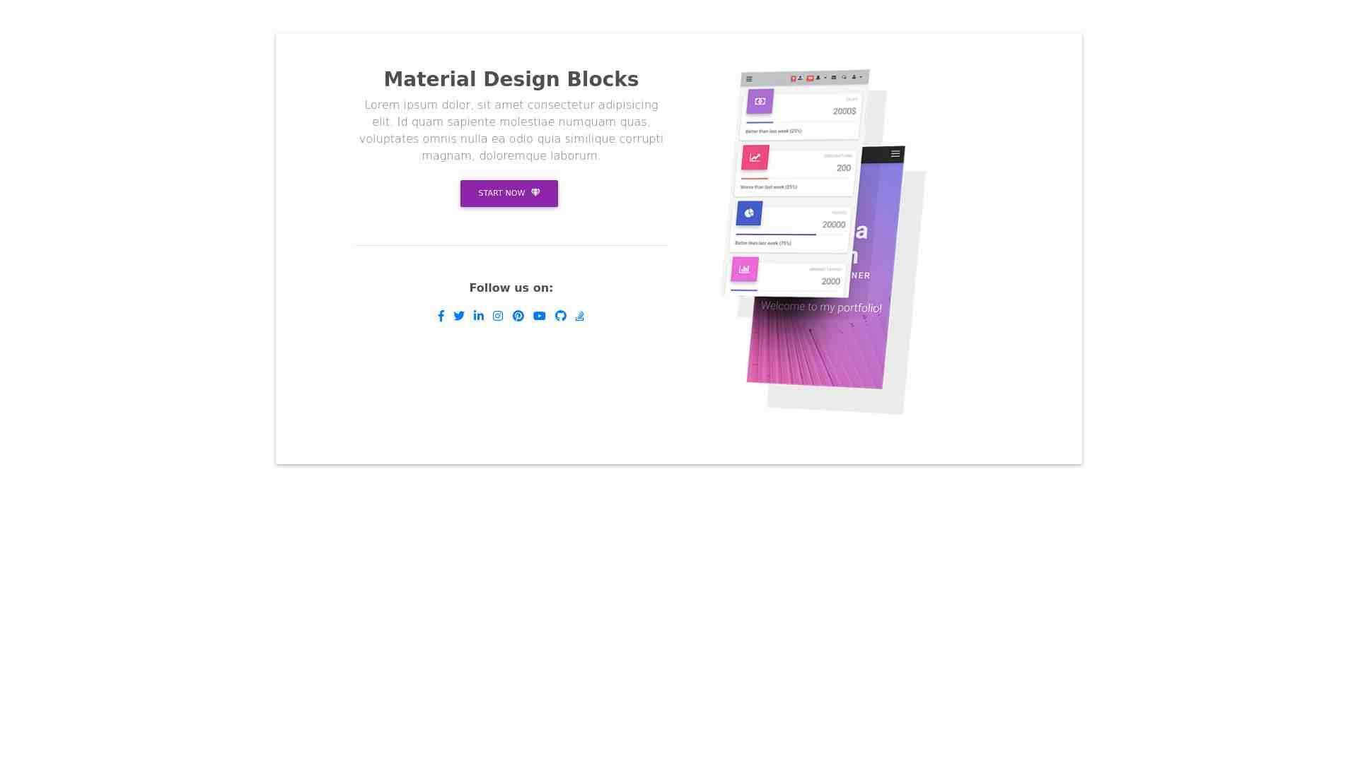 Material Design Blocks - Content 9