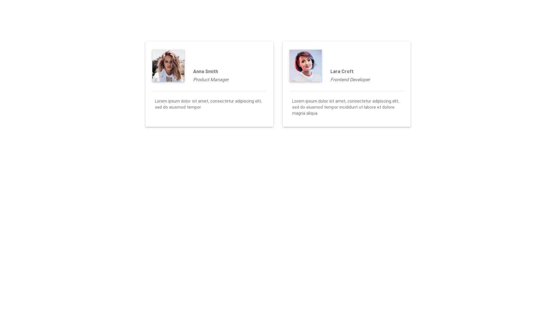 Material Design Blocks - Testimonials 5
