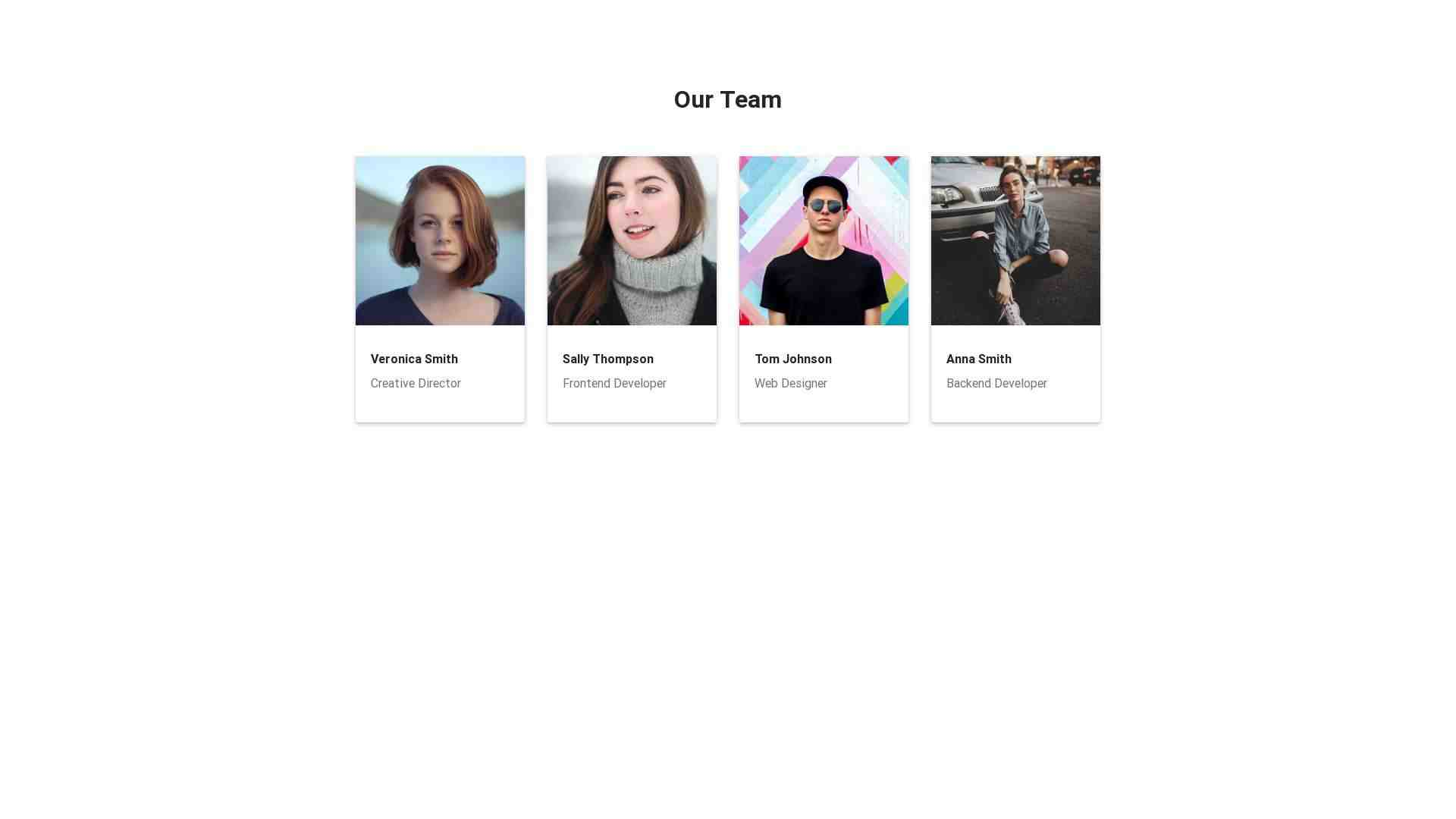 Material Design Blocks - Teams 1
