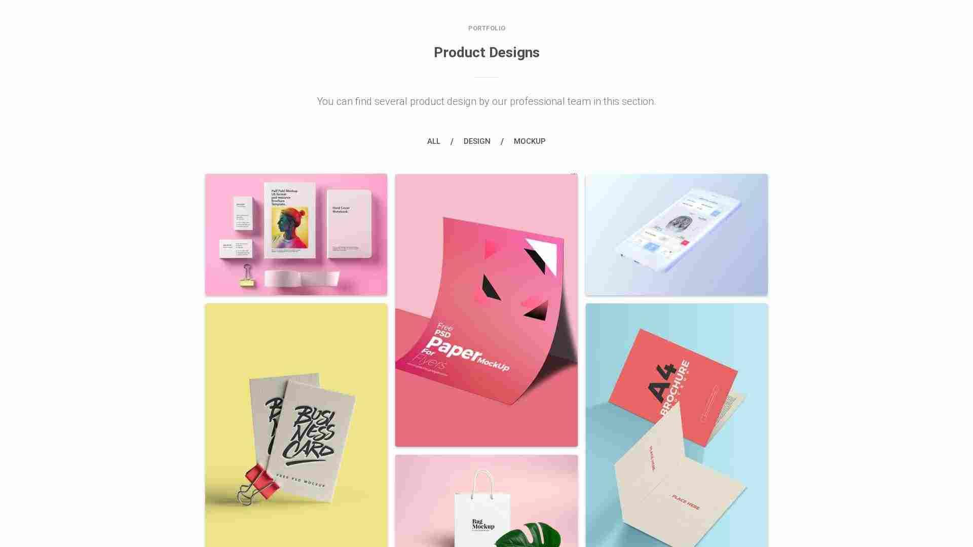 Material Design Blocks - Portfolio 1