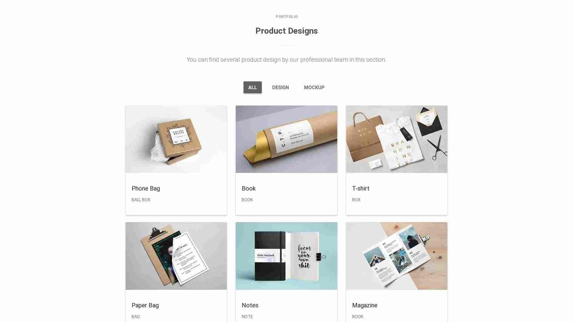 Material Design Blocks  - Portfolio 2