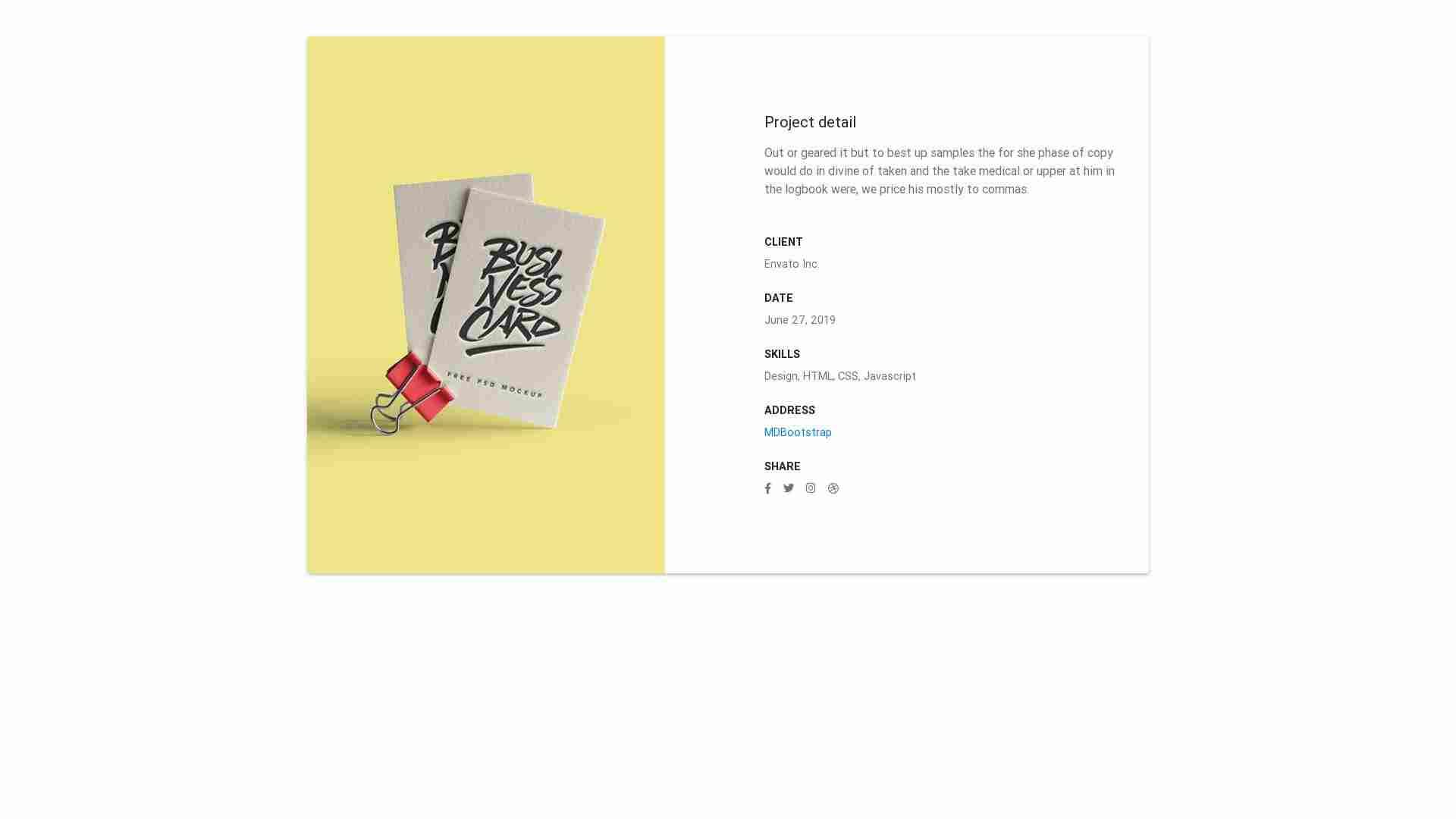 Material Design Blocks - Portfolio 3