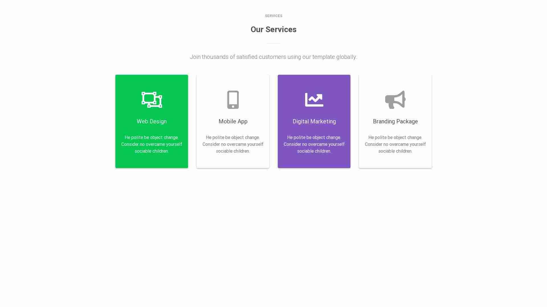 Material Design Blocks - Service 1