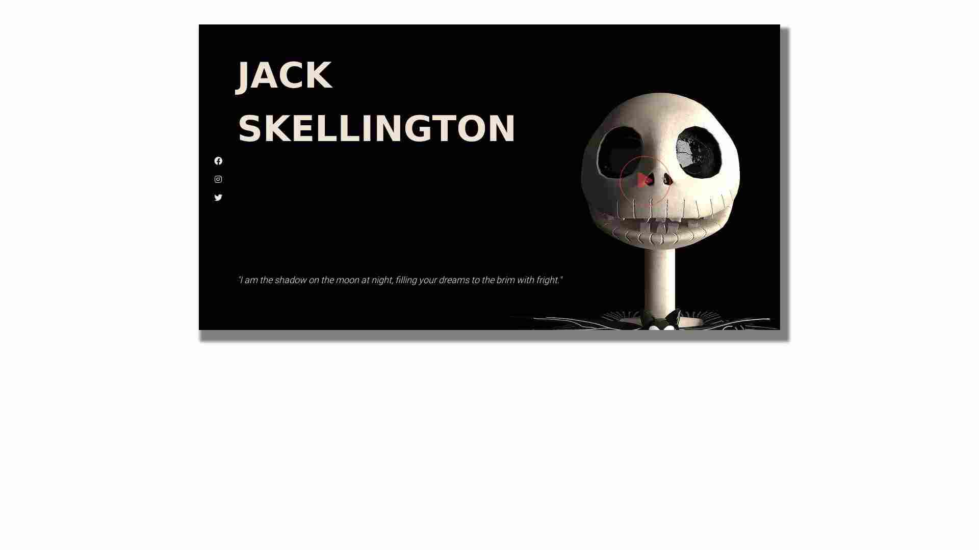 Jack Skellington Intro