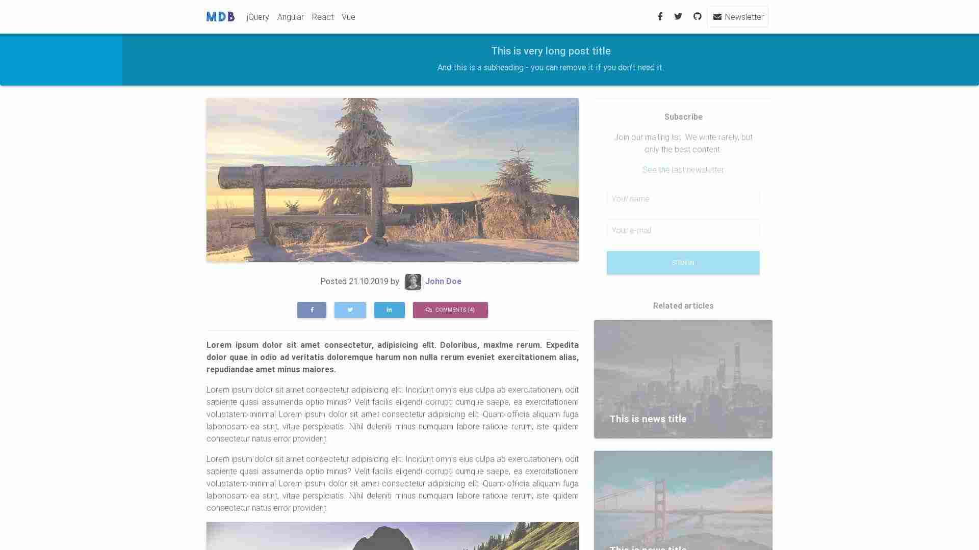 Blog Post - minimalist version