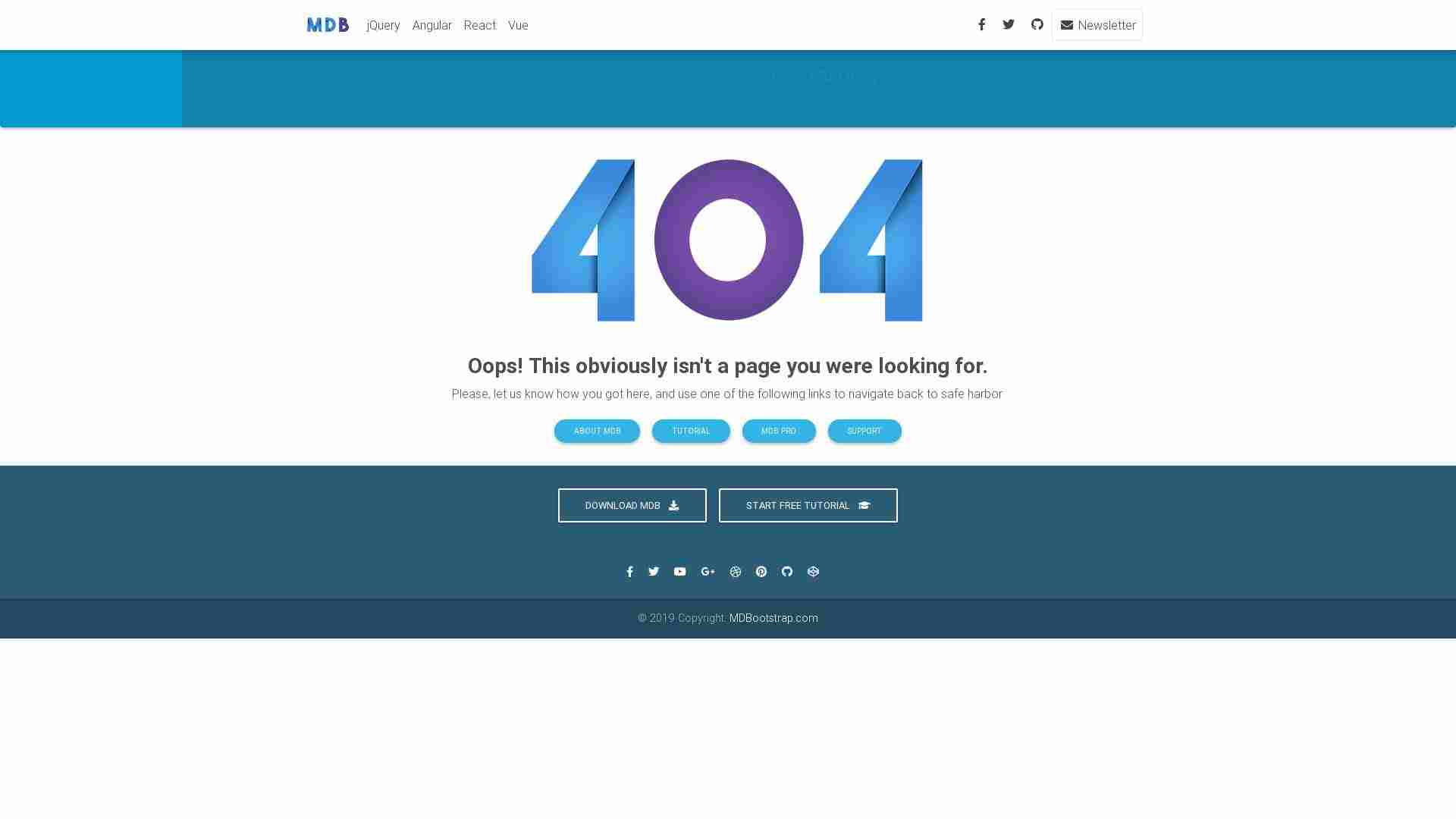 Blog 404 page - minimalist version