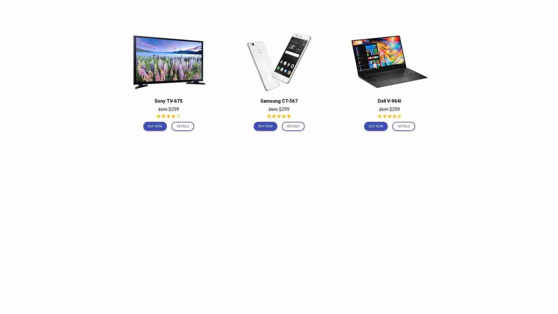 Material Design Blocks - eCommerce 11