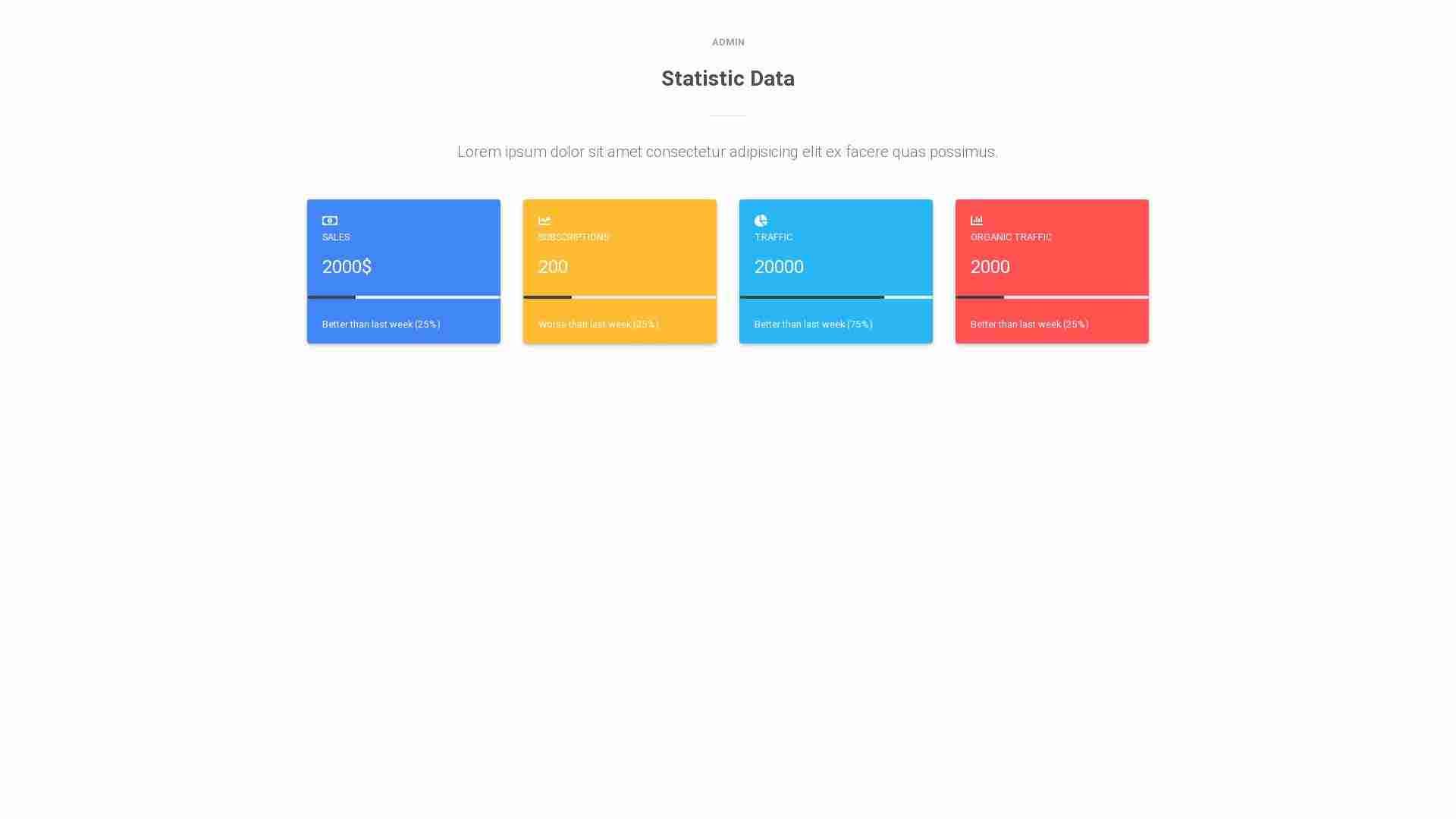 Material Design Blocks - Admin 1