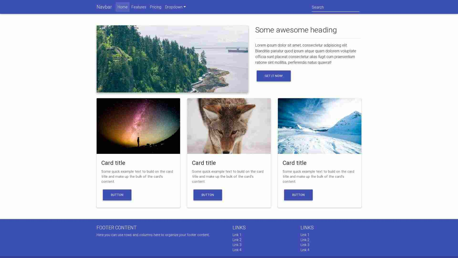 Forked from - Bootstrap Tutorial: Corporate website – lesson 3