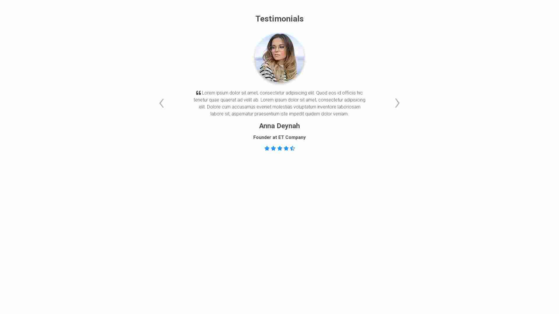 Forked from - Material Design Blocks - Testimonials 7