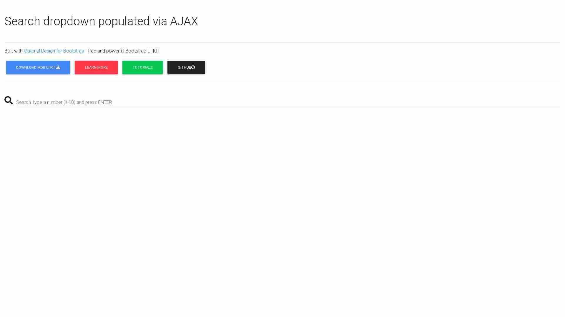 AJAX search dropdown