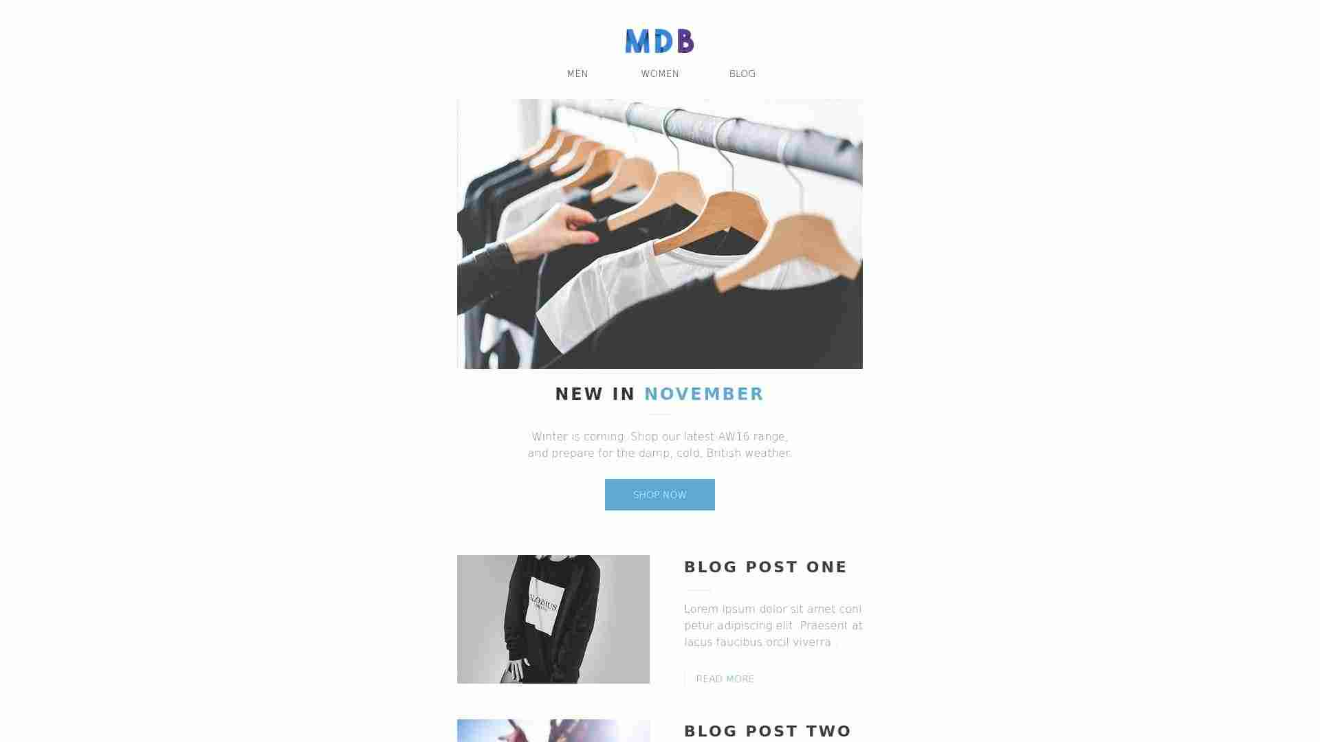 bootstrap responsive email template