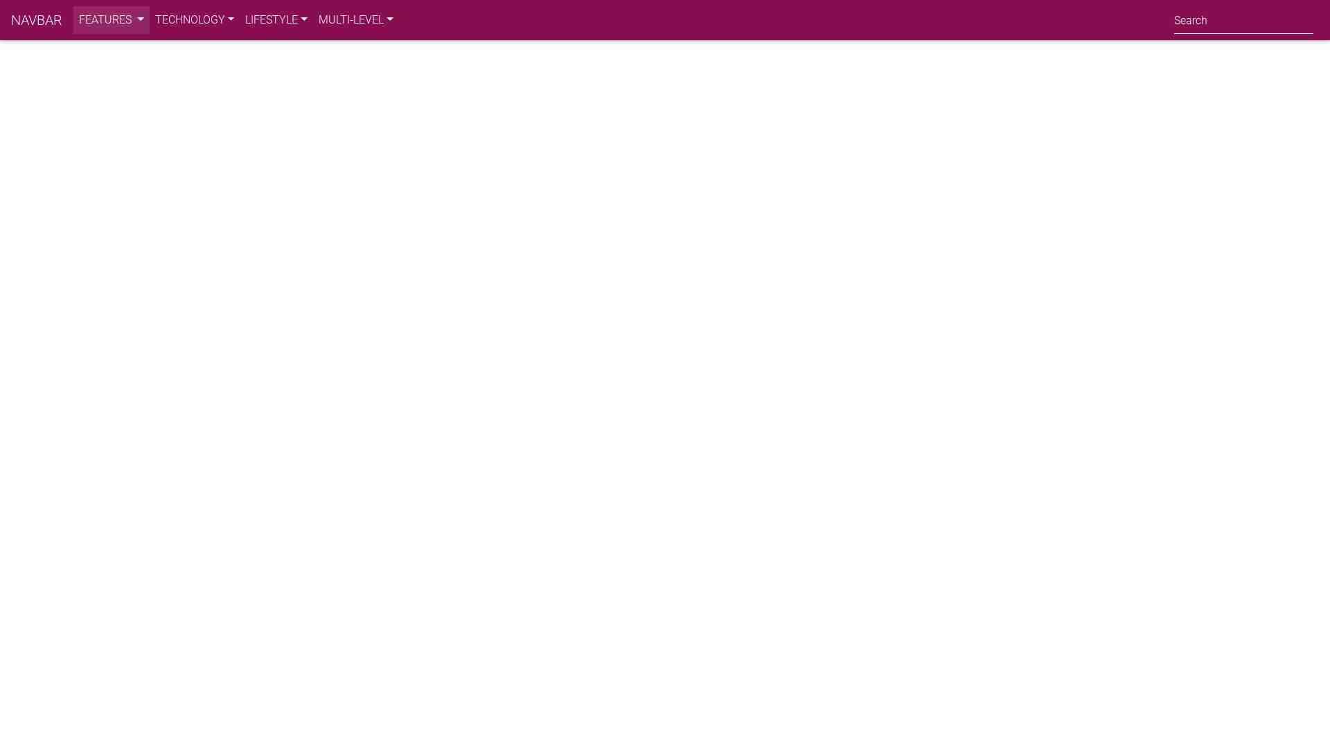 Mega menu with multi-level menu color+