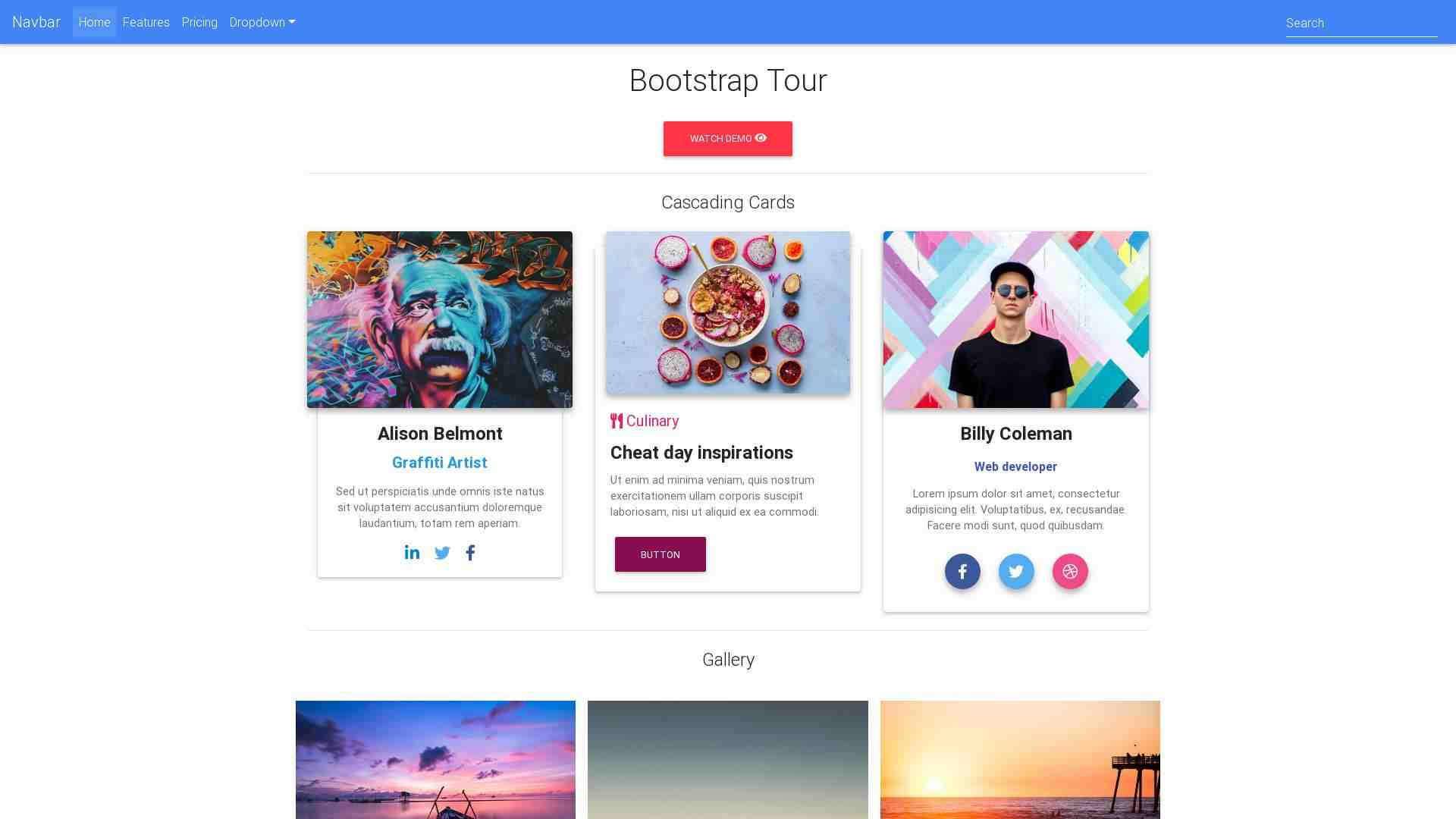 Forked from - Bootstrap Tour