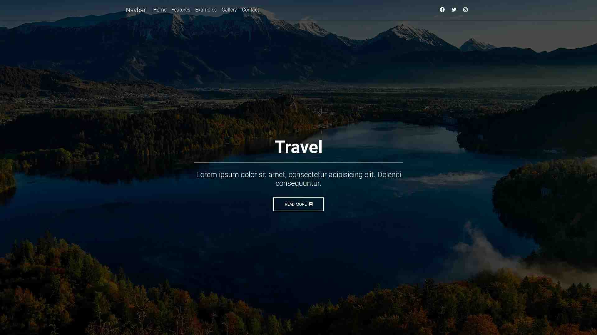 Forked from - Bootstrap Tutorial: Landing page – lesson 10