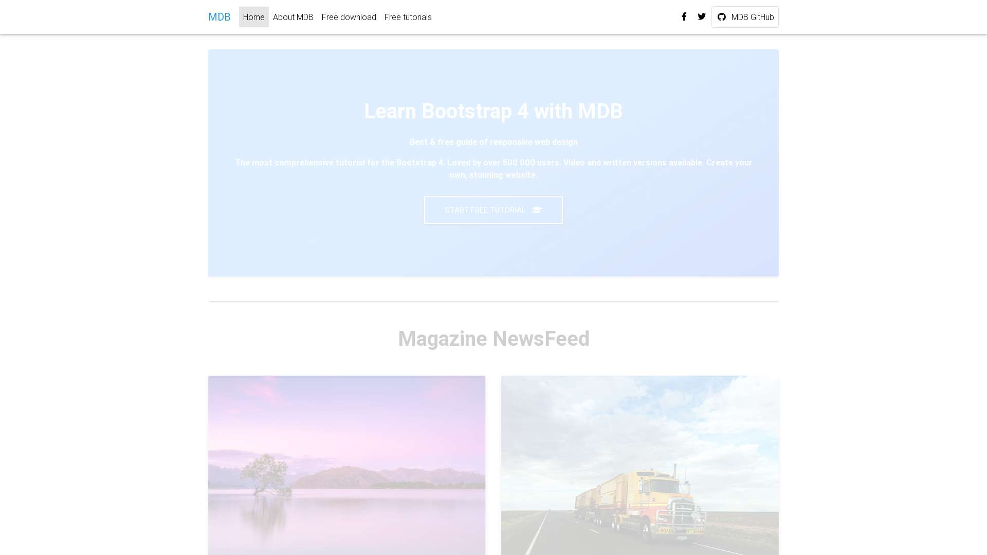 Forked from - jQuery - Magazine template Free
