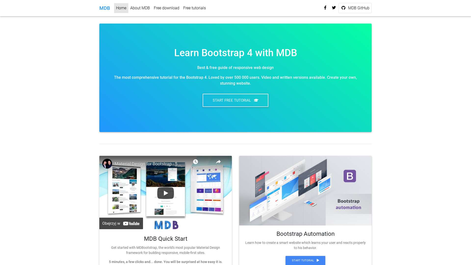 Templates FREE - Two Columns Listing - Material Design for