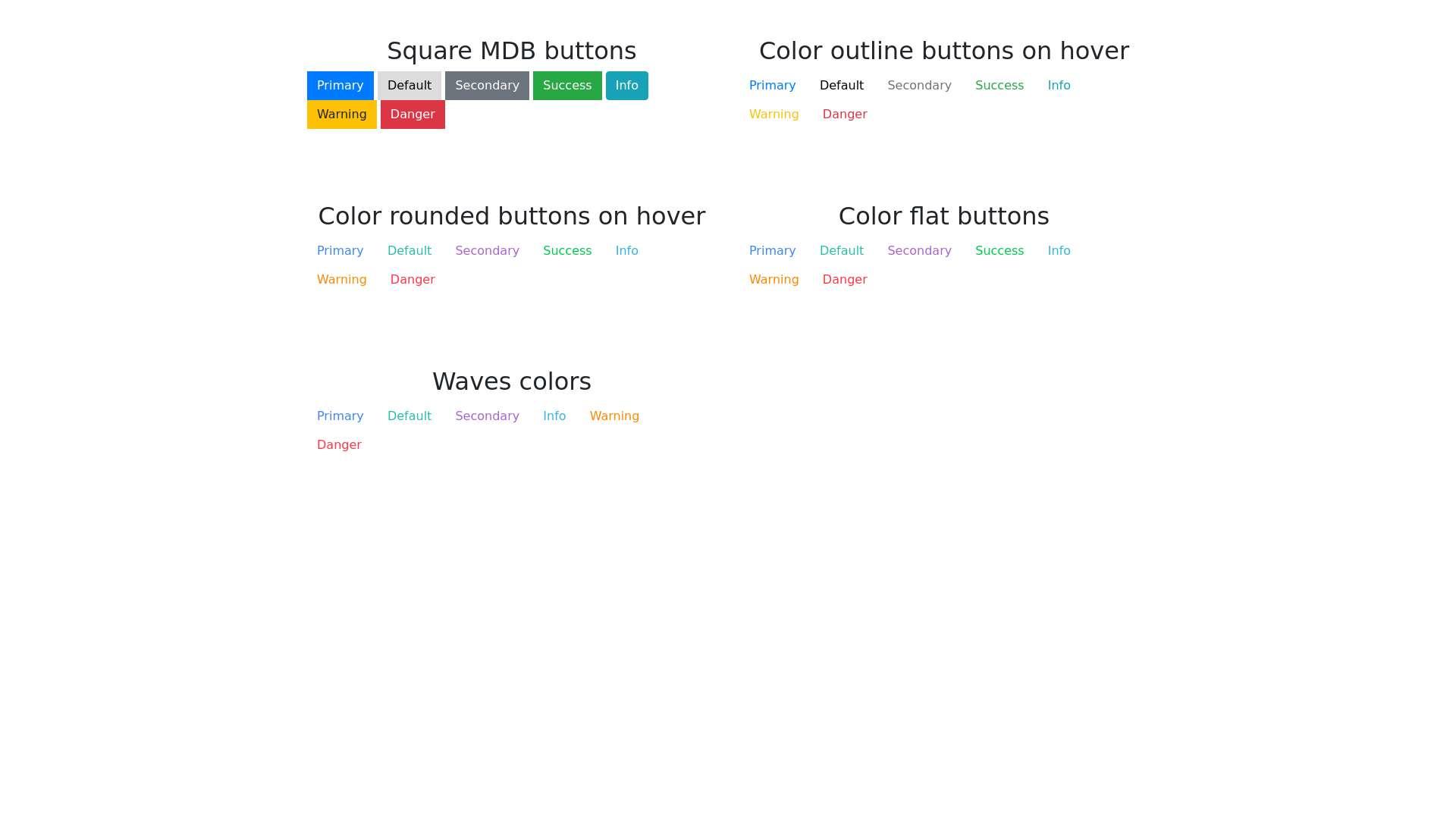 MDB Buttons - MDB ideas