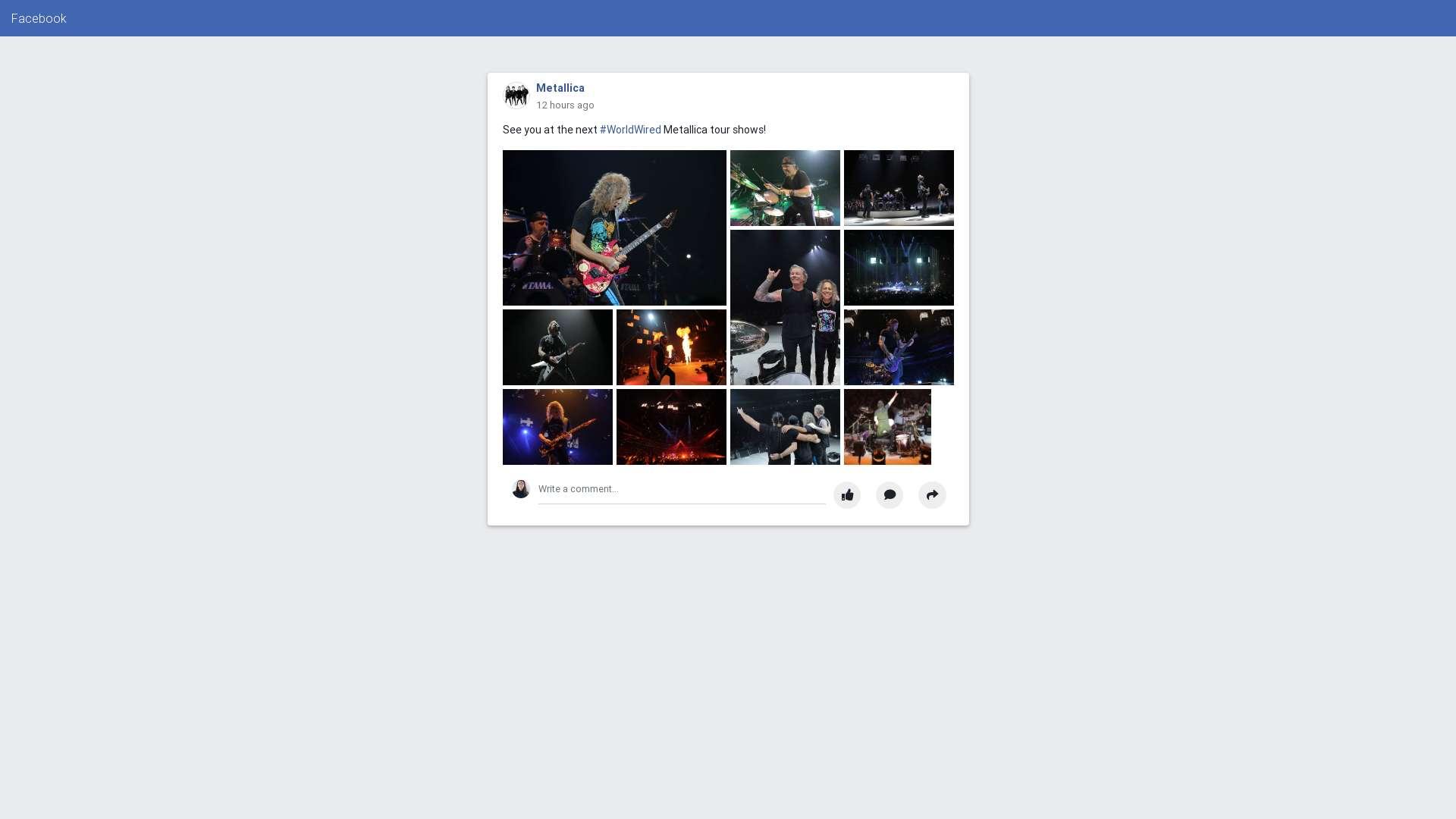 Facebook style gallery