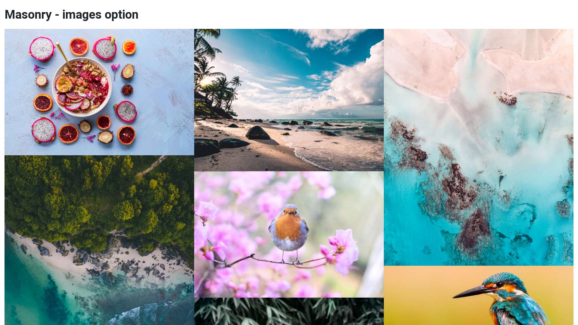 Masonry Layout - version 2 - Material Design for Bootstrap