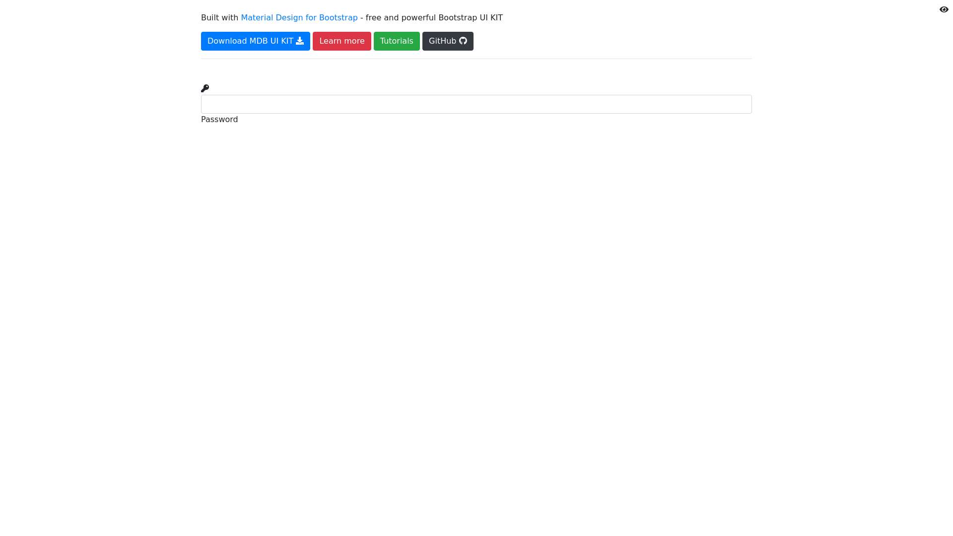 Toggle password visibility - Material Design for Bootstrap