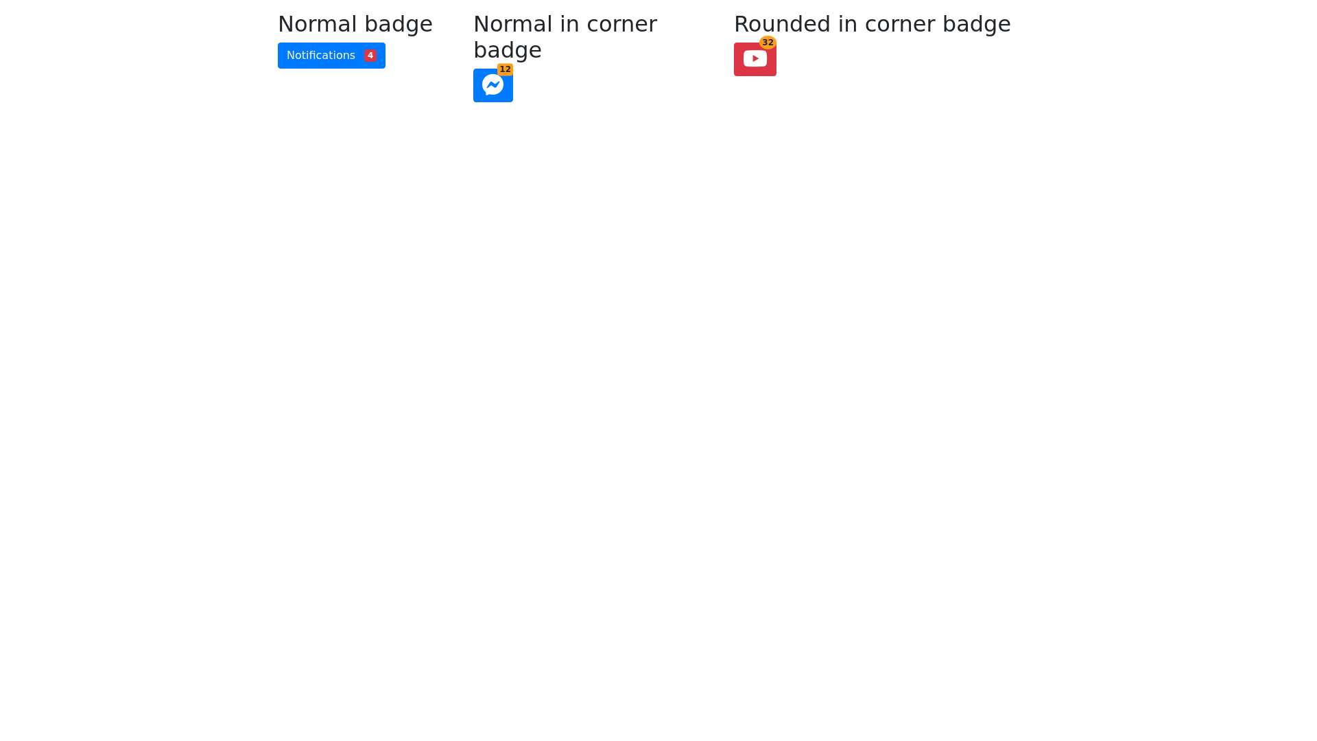 Bootstrap button badge