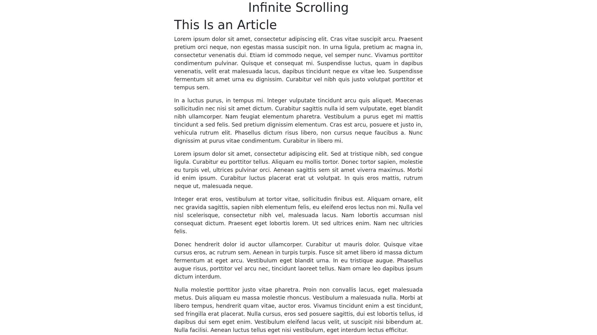 Bootstrap infinite scroll