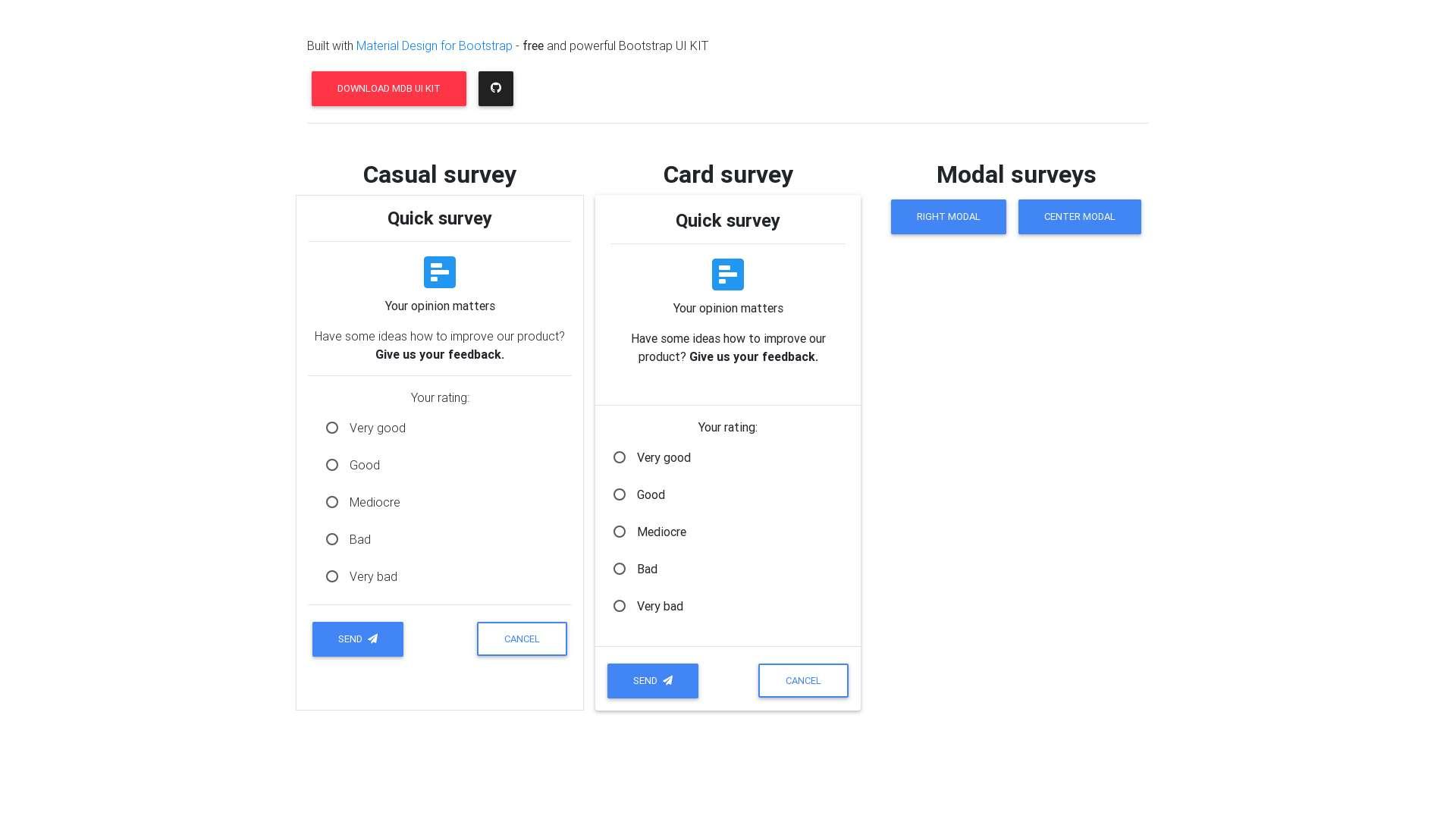Bootstrap survey