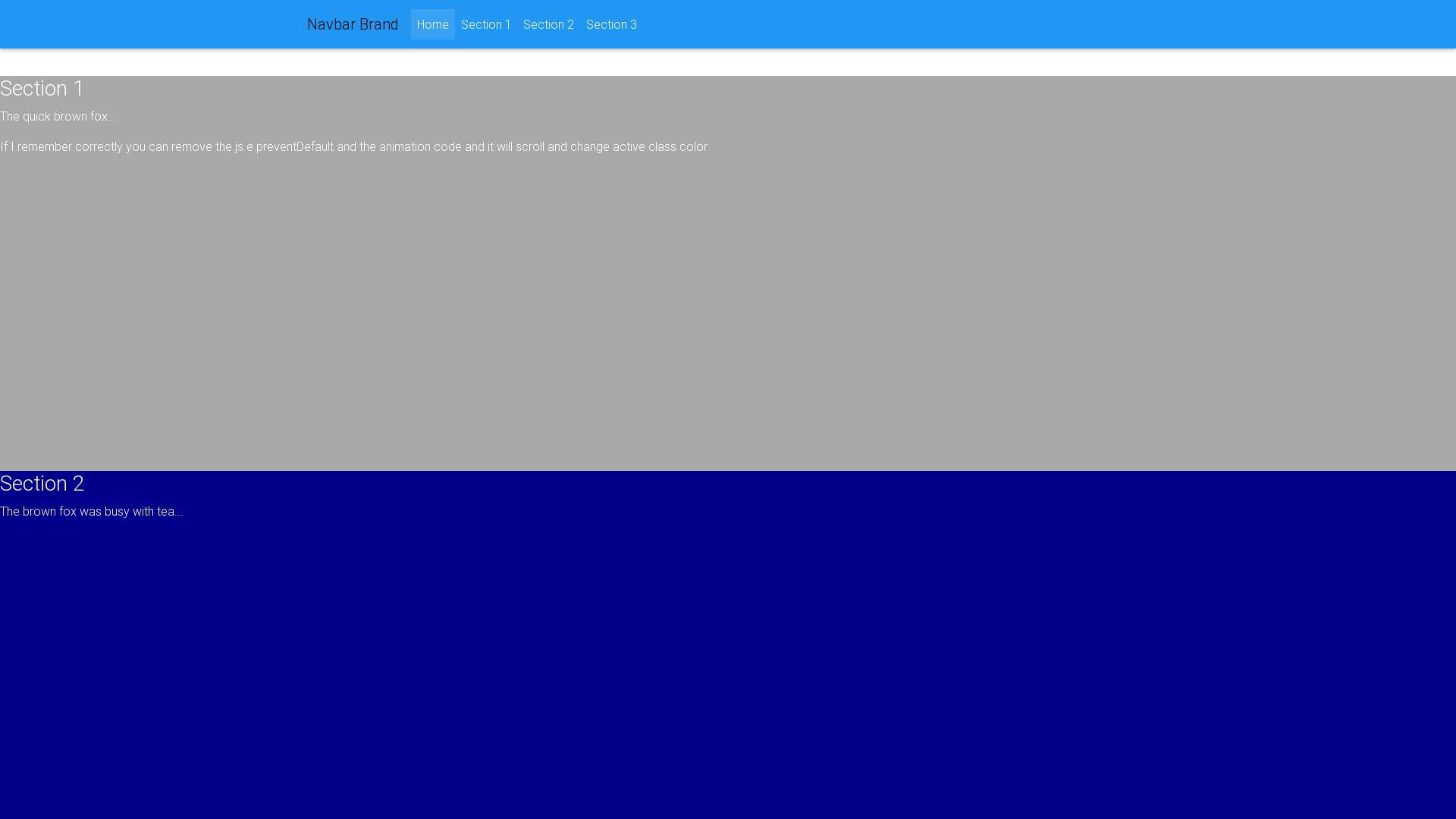 Highlight active class in nav-bar - Material Design for Bootstrap