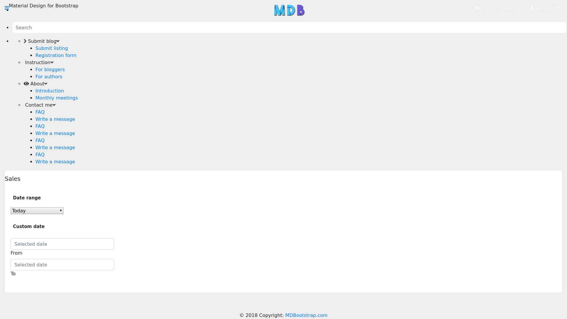 Forked from - Bootstrap Tutorial: Admin dashboard – lesson 4