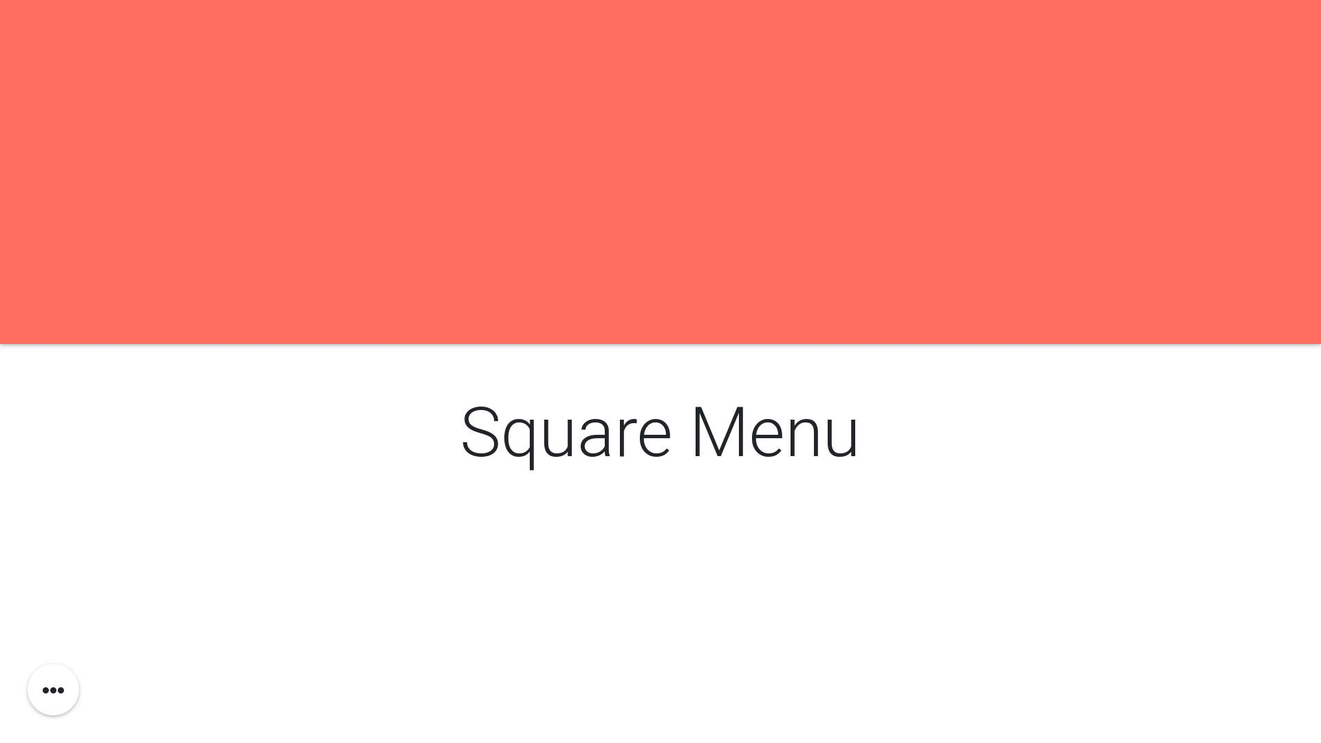 Pure Square Menu