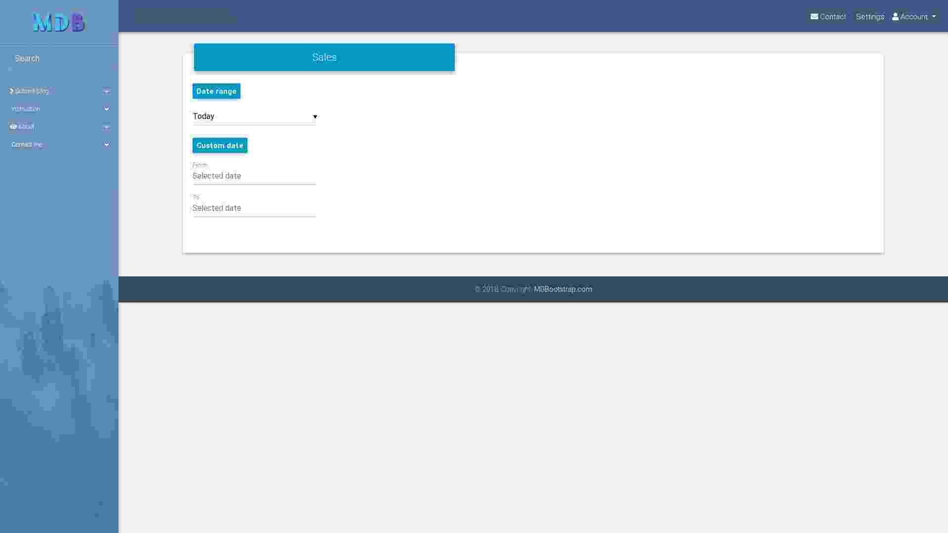 Bootstrap Tutorial: Admin dashboard – lesson 4 - Material Design for