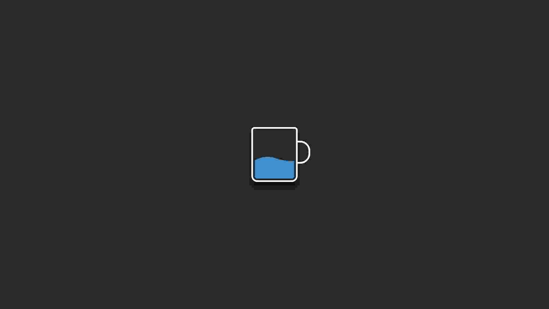 Loading - Animated cup of water