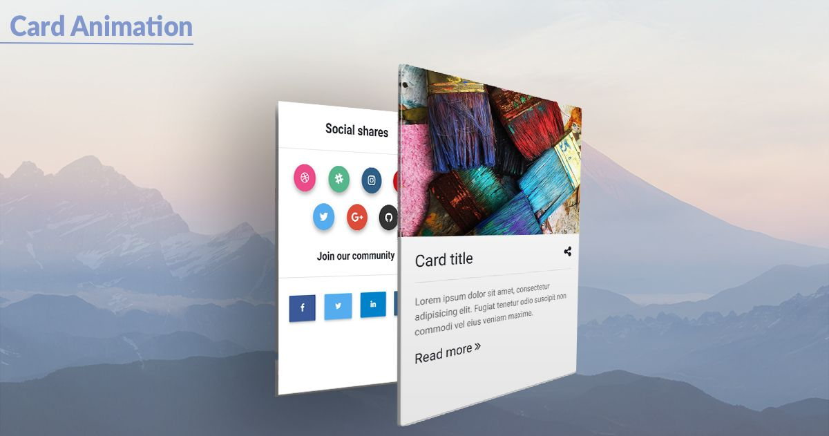 Bootstrap Card Animation - examples & tutorial  Basic