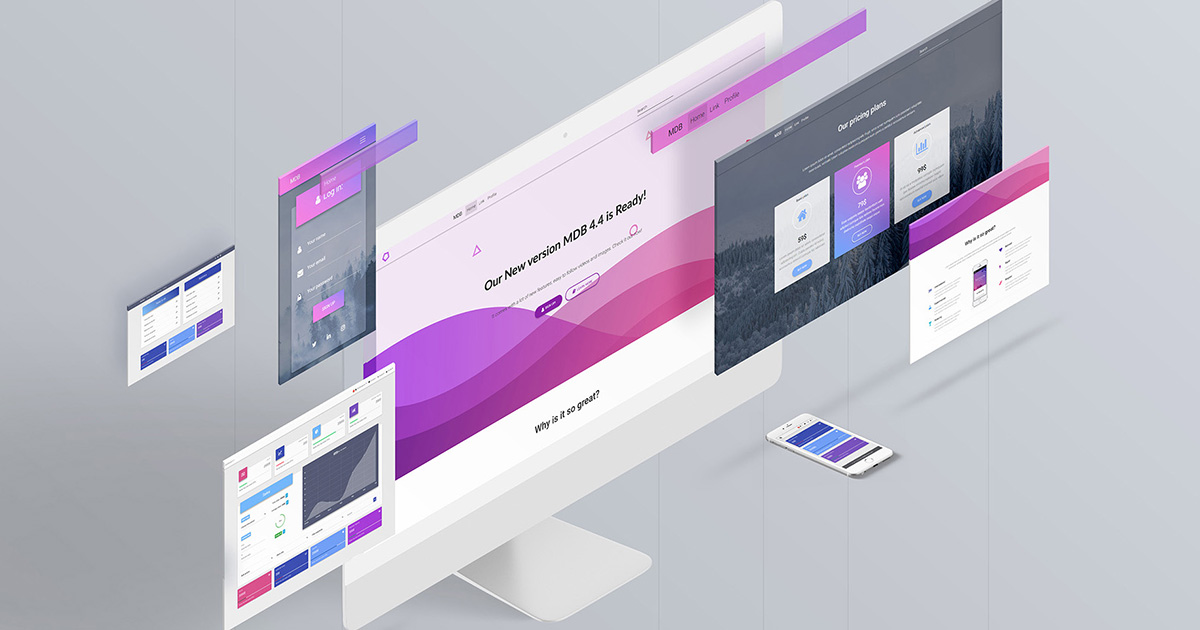 Material Design for Bootstrap 4 - the most popular & free UI KIT