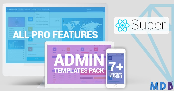 Super Bundle: MDB PRO + Admin Dashboard + All Plugins 65% OFF (React version) thumbnail