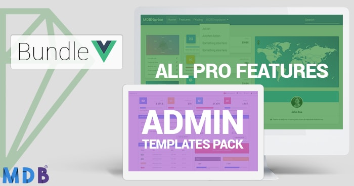 Small Bundle : MDB Pro + Admin Template 30% off (Vue version) thumbnail