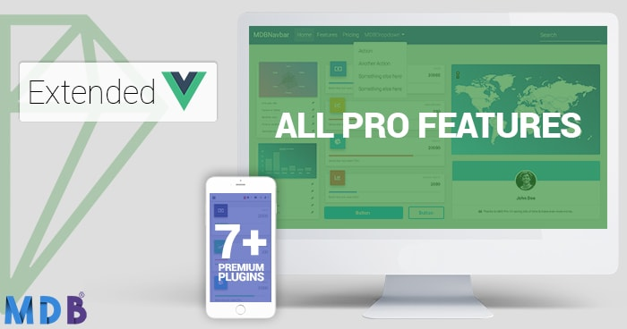 Extended : MDB Pro + All Plugins 30% off! (Vue version) thumbnail