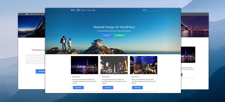 Corporate Template Material Design for WordPress