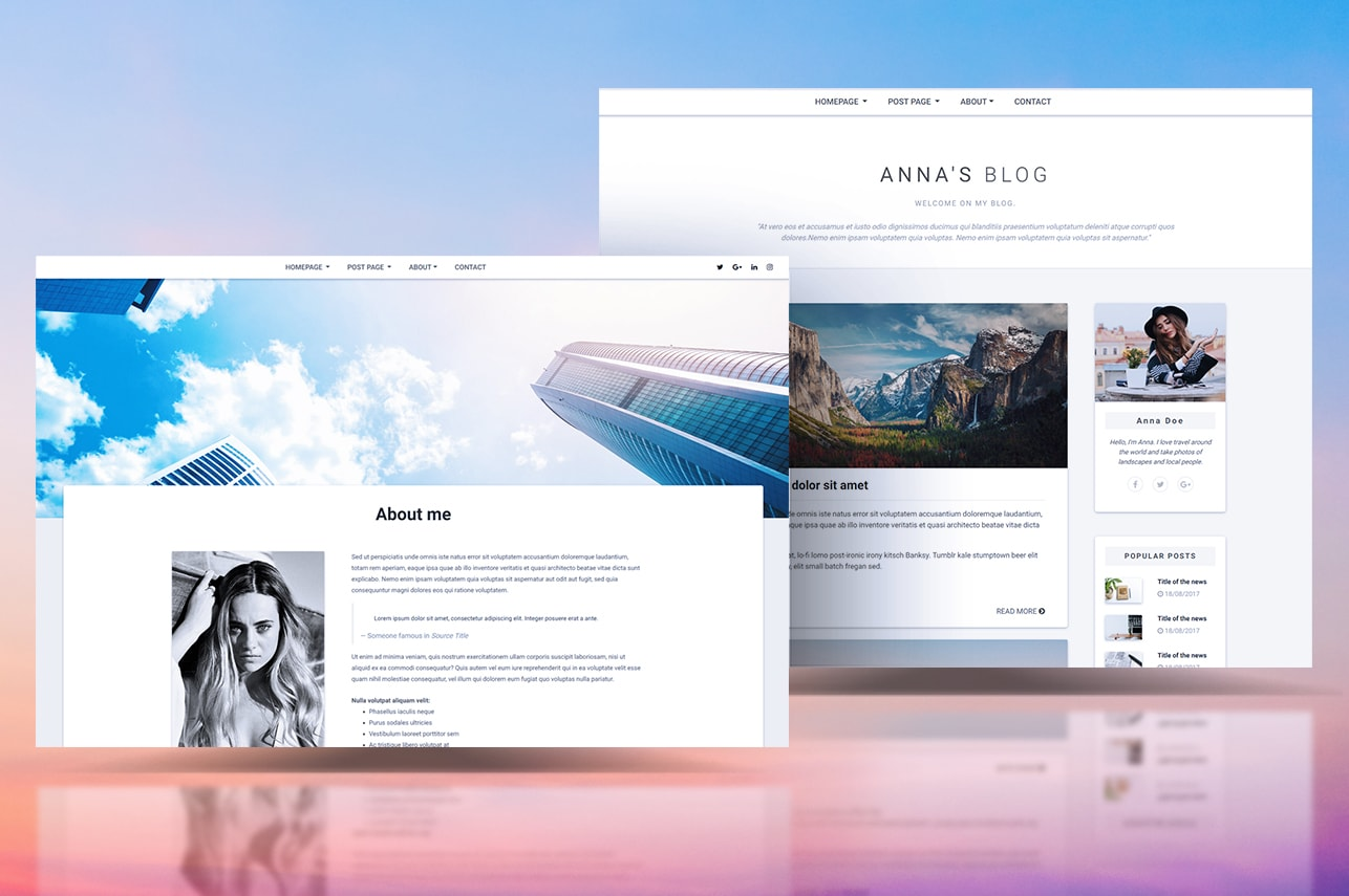 MDB Blog Template Pro (jQuery version) - Material Design for Bootstrap