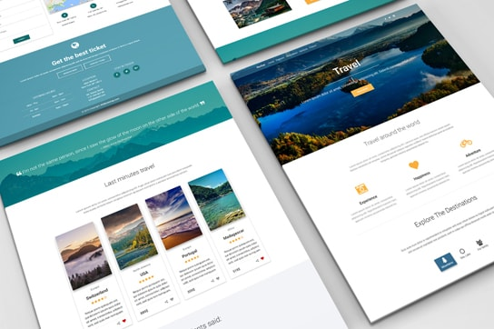 MDB Travel Landing Page Template