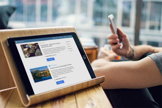 Blog widget mockup - Material Design for WordPress
