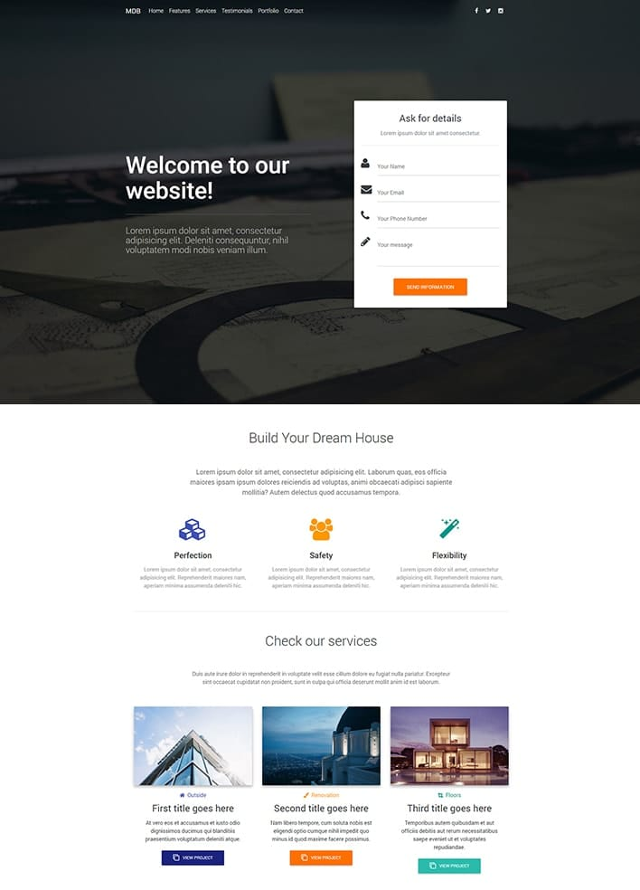 WordPress website - Material Design for WordPress