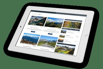 MDB website displayed on iPad