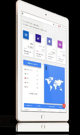 MDB Admin Dashboard displayed on iPad